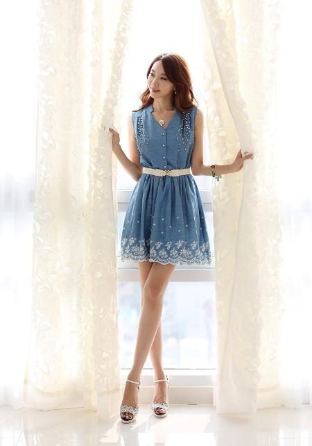 vay lien xoe dep 6 Thời trang nữ giúp các nàng ăn mặc sành điệu trong những tháng hè