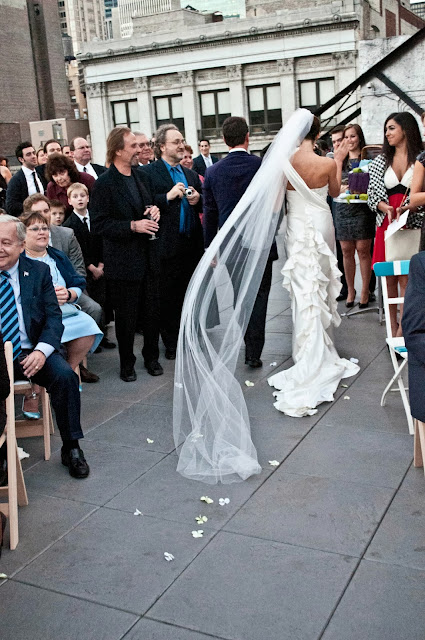 A Model Wedding, recession on a rooftop wedding