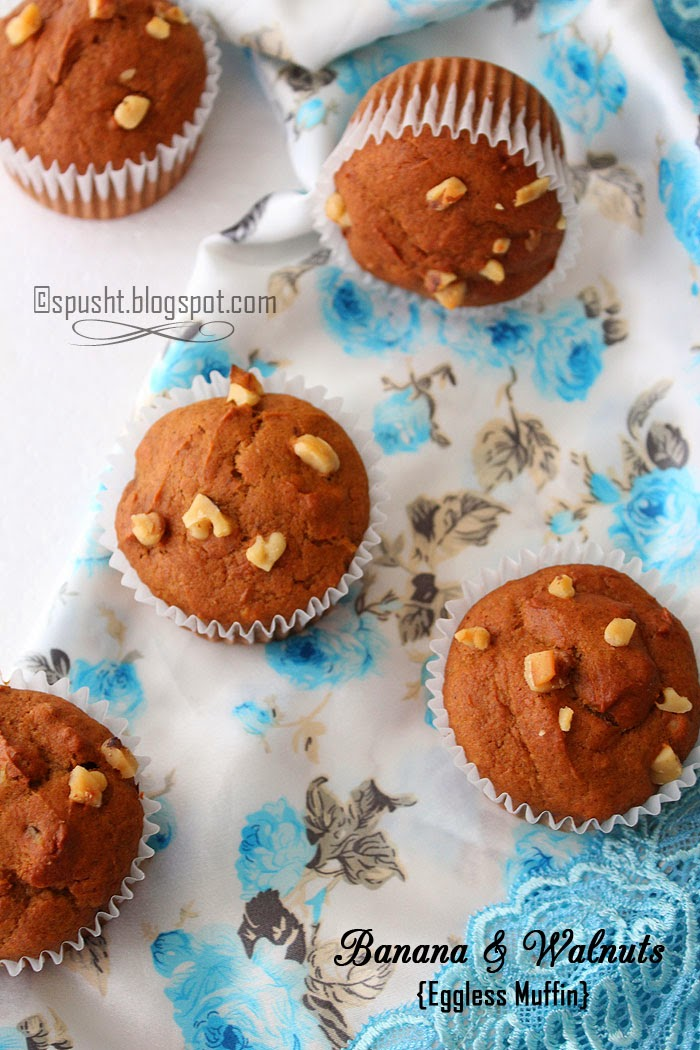 Spusht | Banana Muffins with Walnuts | Muffin Recipes