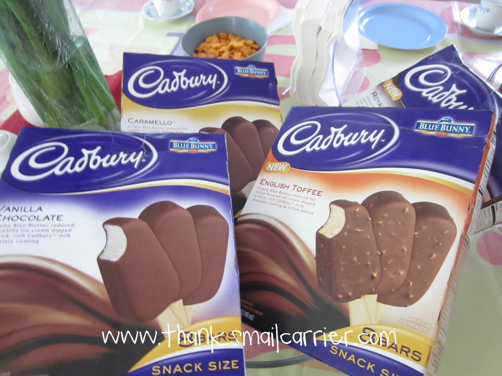 Cadbury ice cream bars