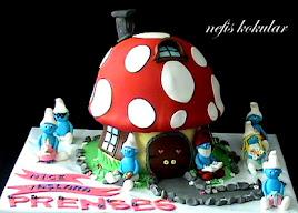 Şirinler Ev Pasta