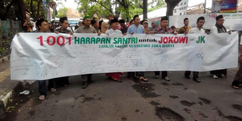 Laskar Santri Taruh 1001 Harapan Untuk Jokowi dan JK