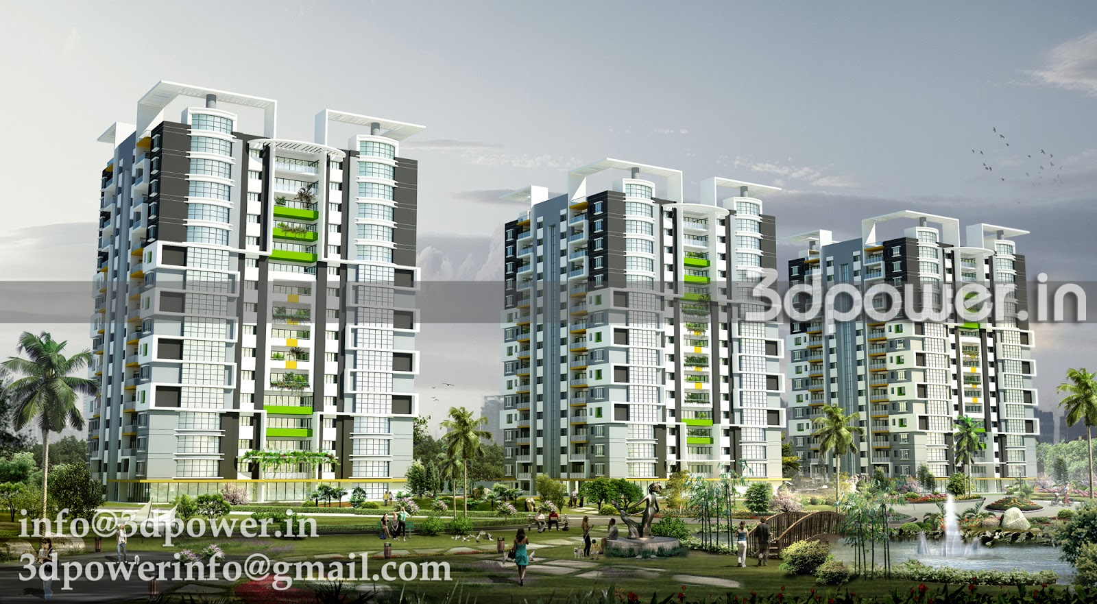 High Rise Apartment Design Exterior 3d animation, 3d rendering, 3d walkthrough, 3d interior, cut