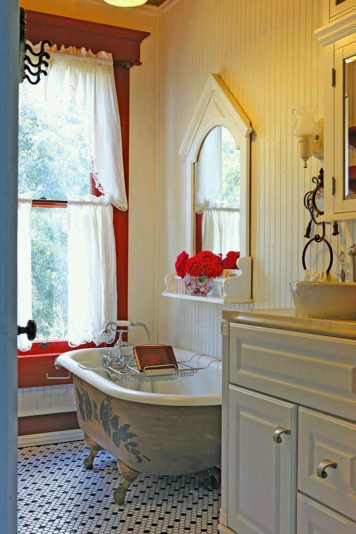 salle de bain vintage pinterest. Black Bedroom Furniture Sets. Home Design Ideas