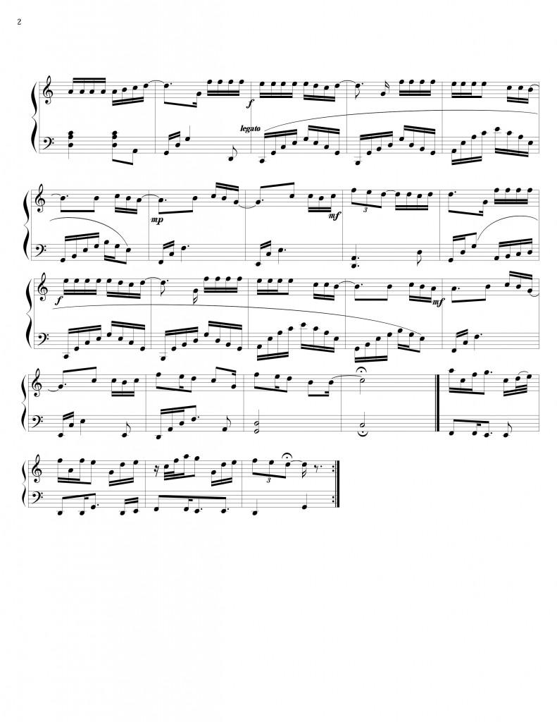 Sheet Piano nguoi ay trinh thang binh
