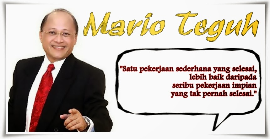 Kumpulan Kata Mario Teguh Tentang Pekerjaan
