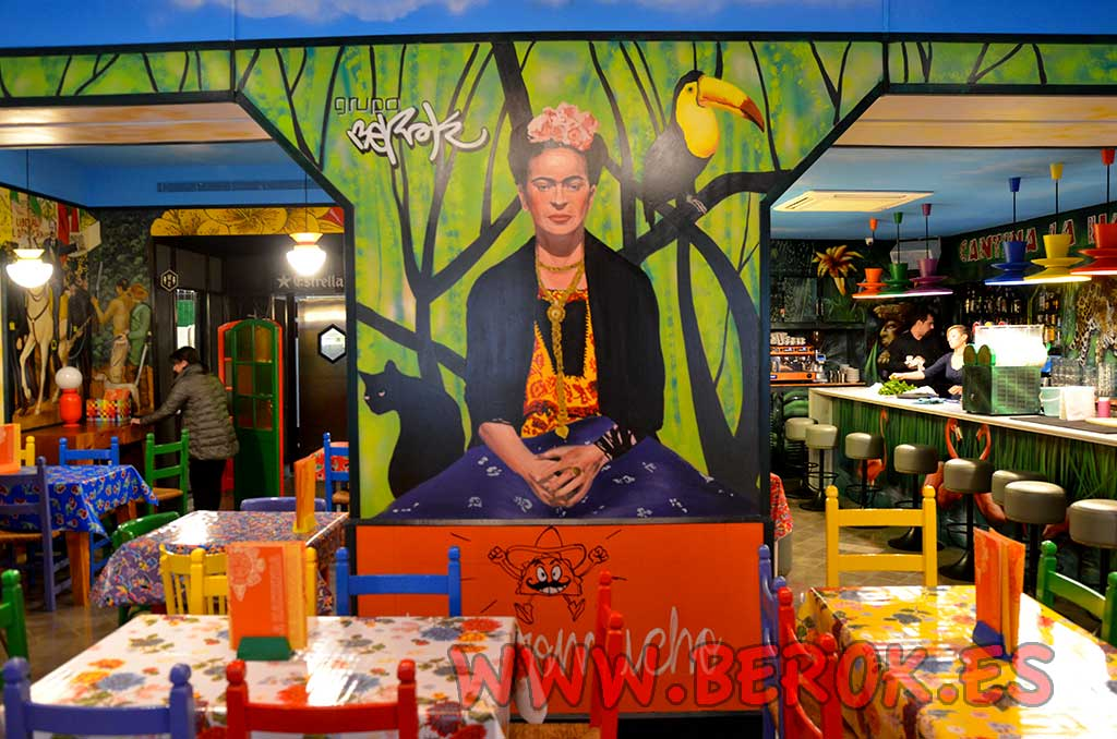 Berok graffiti mural profesional en barcelona decoraci n - Decoracion de bares y restaurantes ...