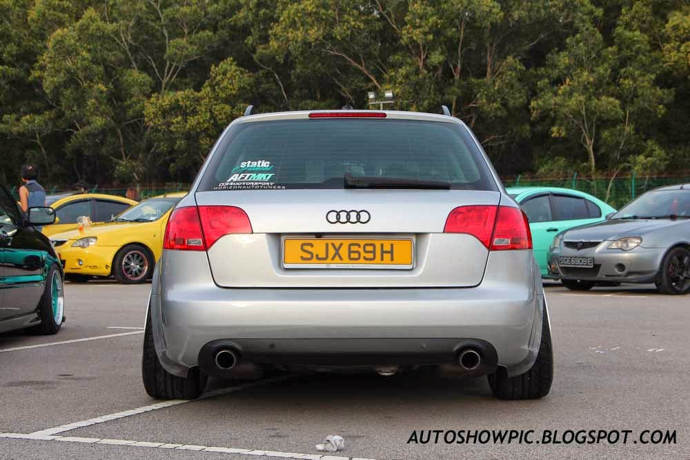 Audi A4 Avant HellaFlush Singapore rear