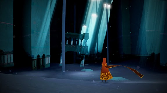 Journey game screenshot dark temple