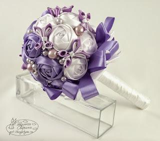 букет невесты атласная лента
