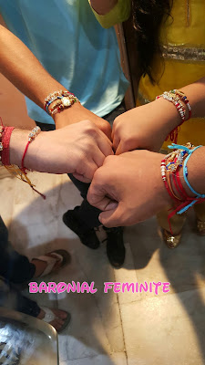 Rakshabandhan celebrations 2015 Baronial Feminite