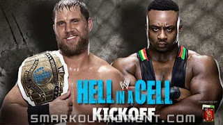Big E Langston holding Intercontinental Title Belt Championship Hell in a Cell 2013 PPV