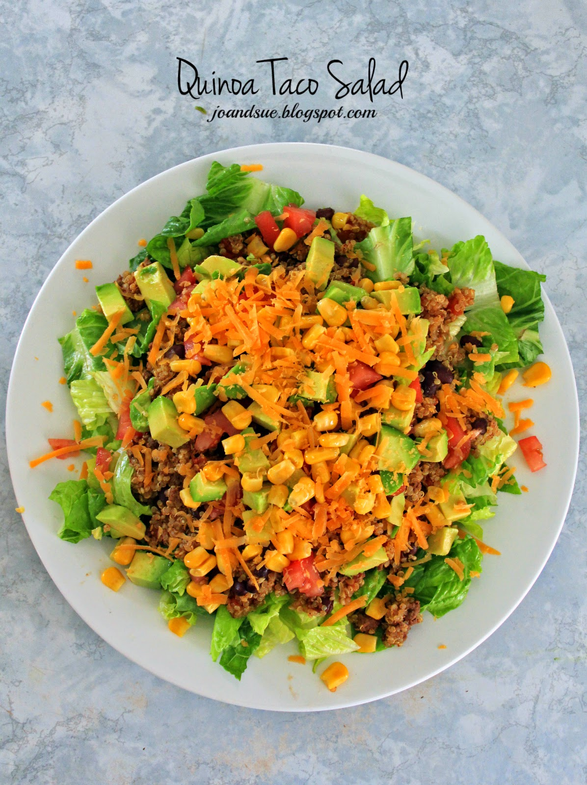 Jo and Sue: Quinoa Taco Salad