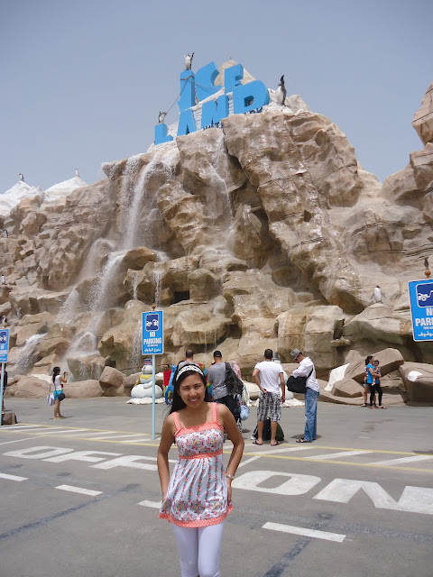 Lady at Ice Land Water Park Ras Al Khaimah