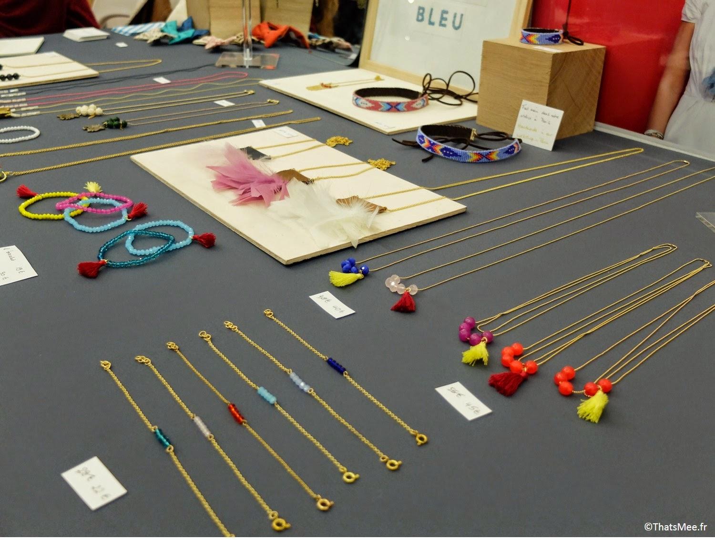 bijoux Pelican bleu sautoir coloré bracelets Boutique éphémère The Tops