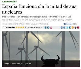 ESPAÑA FUNCIONA SIN LA MITAD DE SUS NUCLEARES