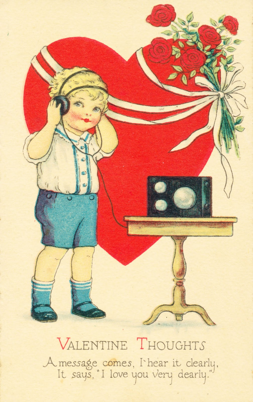 Collage Candy: Valentine postcard