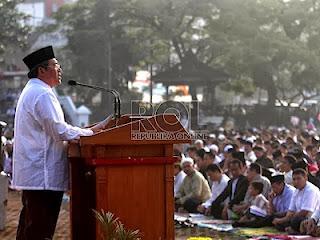 Ahmad Heryawan khutbah Ied (foto ROL)