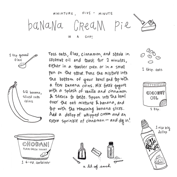 banana cream pie || pantopaper.com