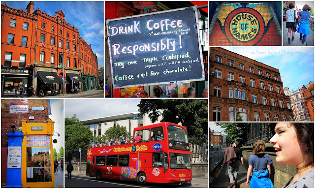 image collage, walking the streets of Dublin