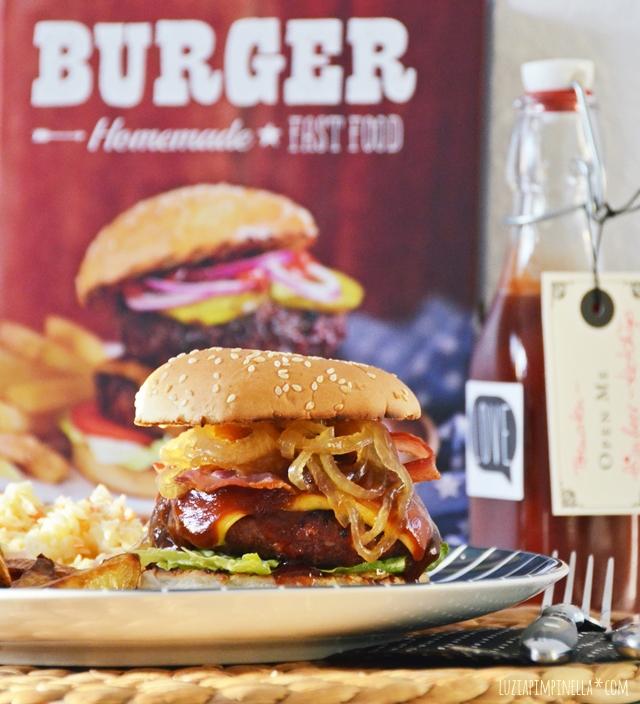 luzia pimpinella | burger | rezept - zwiebeln in ahornsirup & cole slaw