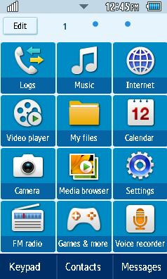 GT-S5260 Default Samsung Themes Free Download Menus