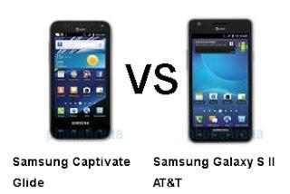 Samsung Captivate Glide VS Samsung Galaxy SII