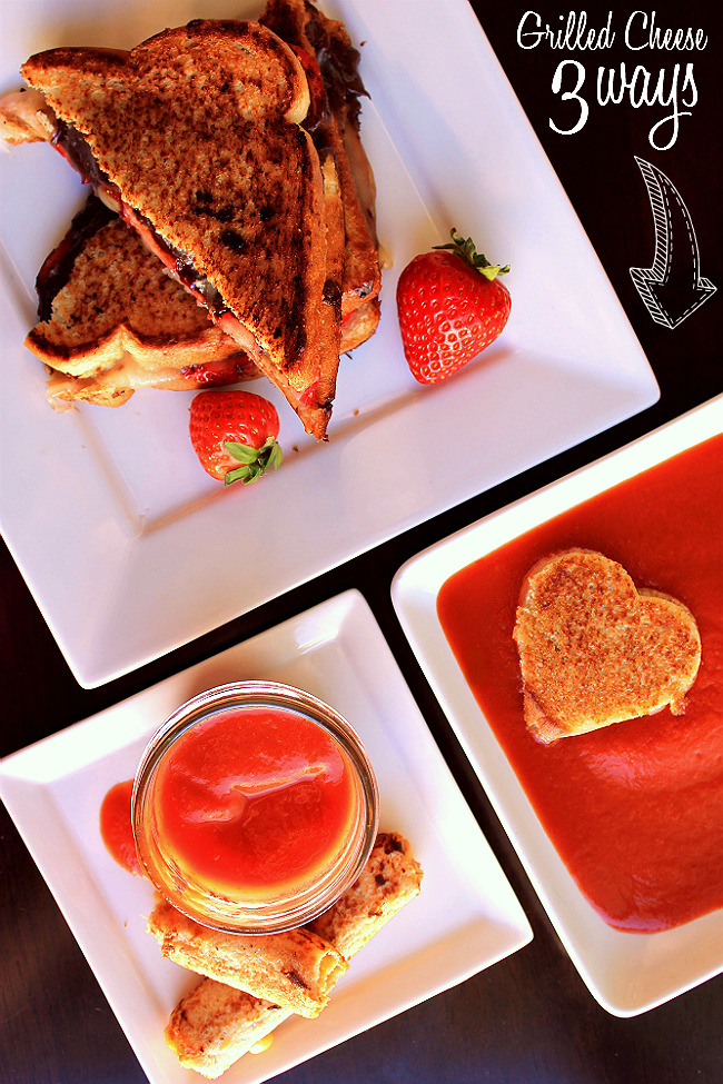 Grilled Cheese 3 Ways: Roll-Ups, Smoky Chipotle Cut-Outs, and Havarti Strawberry Chocolate Dessert! #ShareYourCheesy #Client