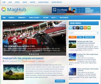 MagHub blogger template