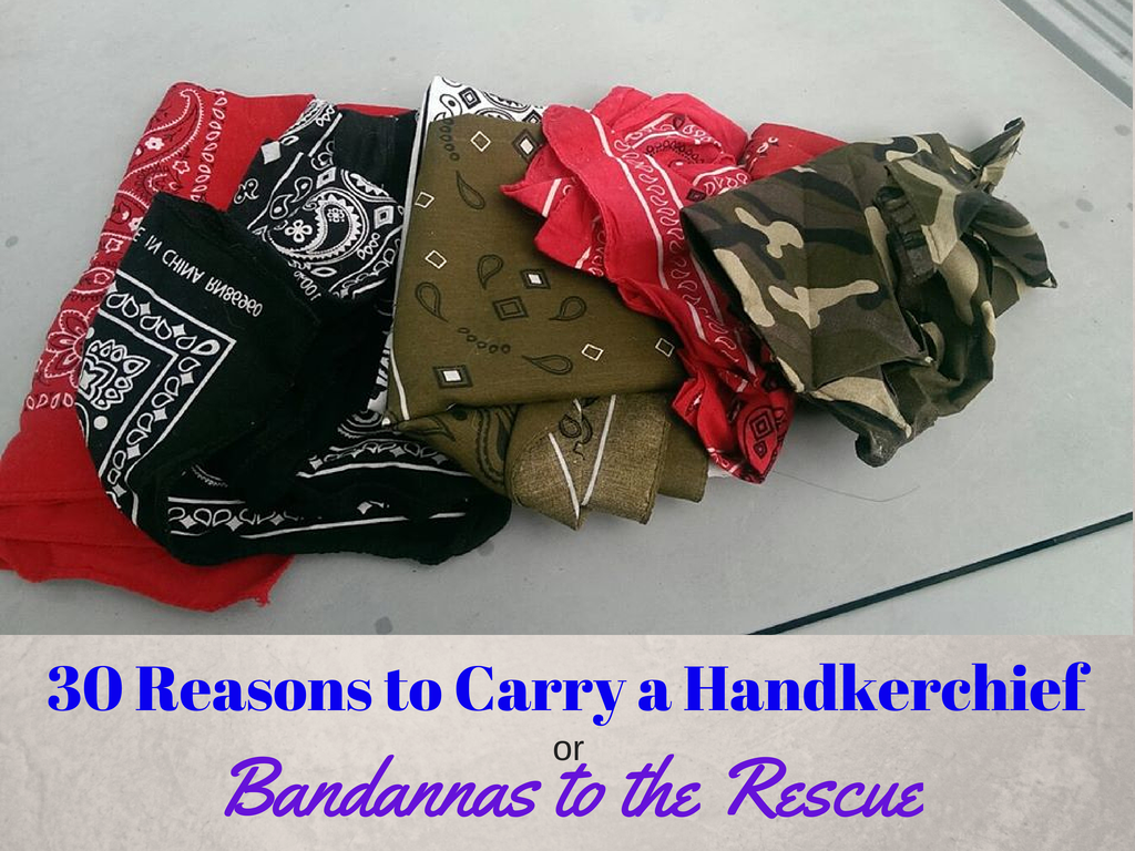 Did you know all of these uses for a handkerchief? There are many more. Be responsible, be green, be a grownup, carry a hankie!