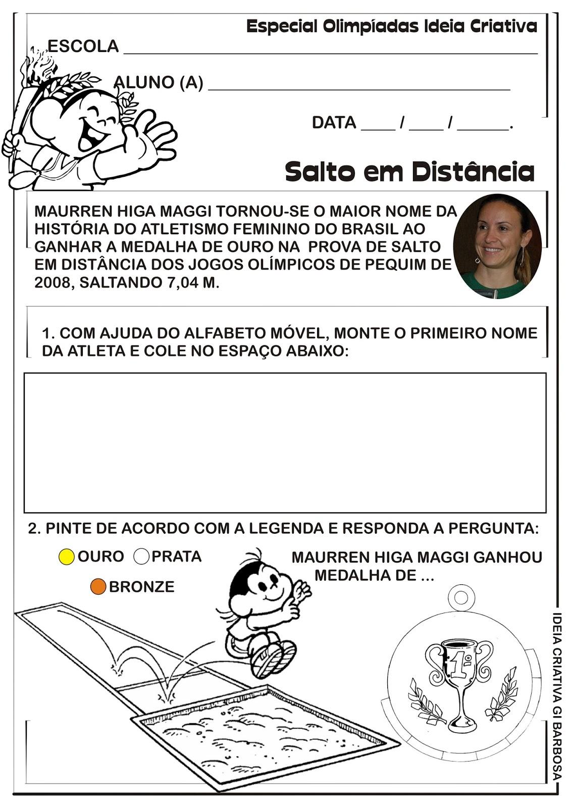 Populares Atividade Olimpíadas Rio 2016 Educação Infantil | Ideia Criativa  BO05