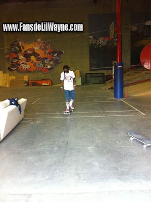 fotos de lil wayne haciendo skate