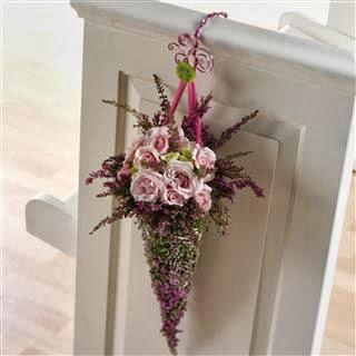 dekoracje ślubne z wrzosów