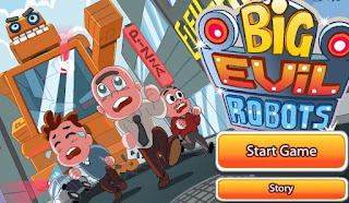 Big Evil Robots awesome free puzzle action online games free play