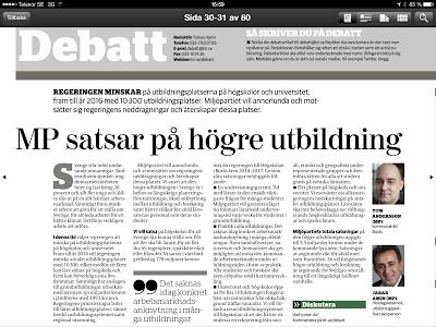 Miljöpartiet satsar på Högskolan i Borås