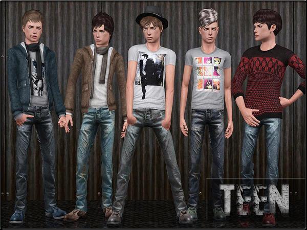 Custom Sims 3: Teen Male Fashion Set 3
