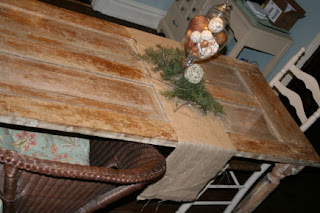 old wood door into table
