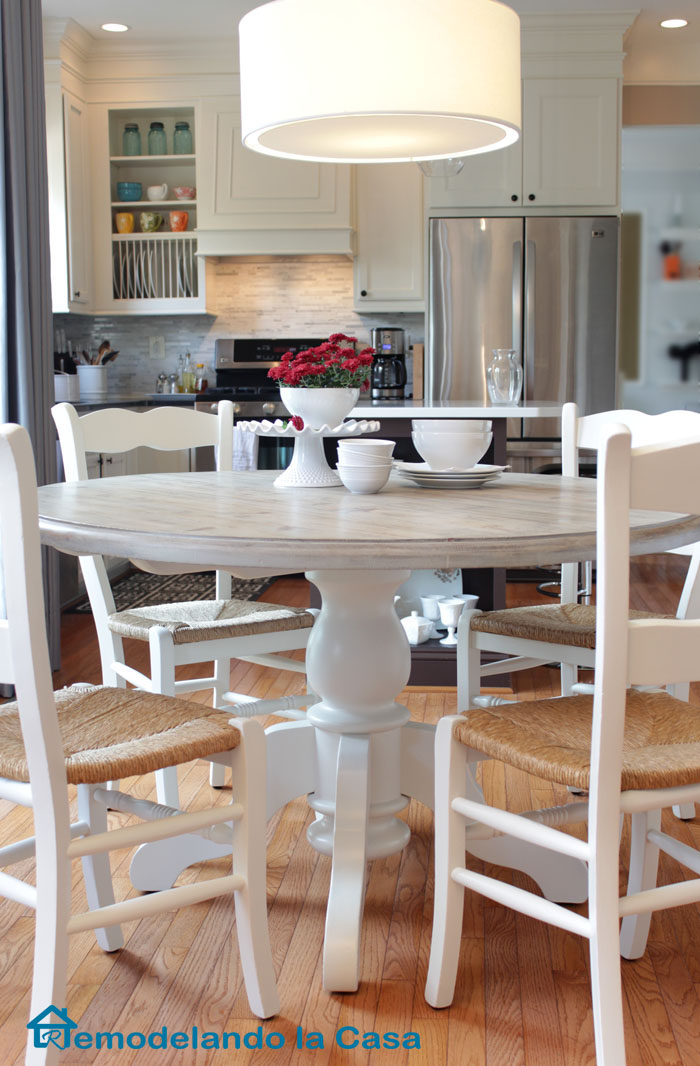 Remodelando la casa kitchen table and chairs makeover - Kitchen table redo ...