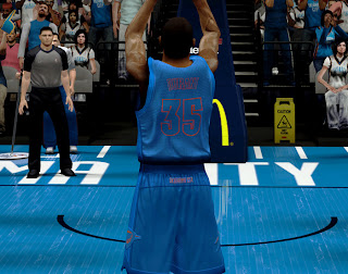 NBA 2K13 Oklahoma City Thunder Christmas Uniform Patch