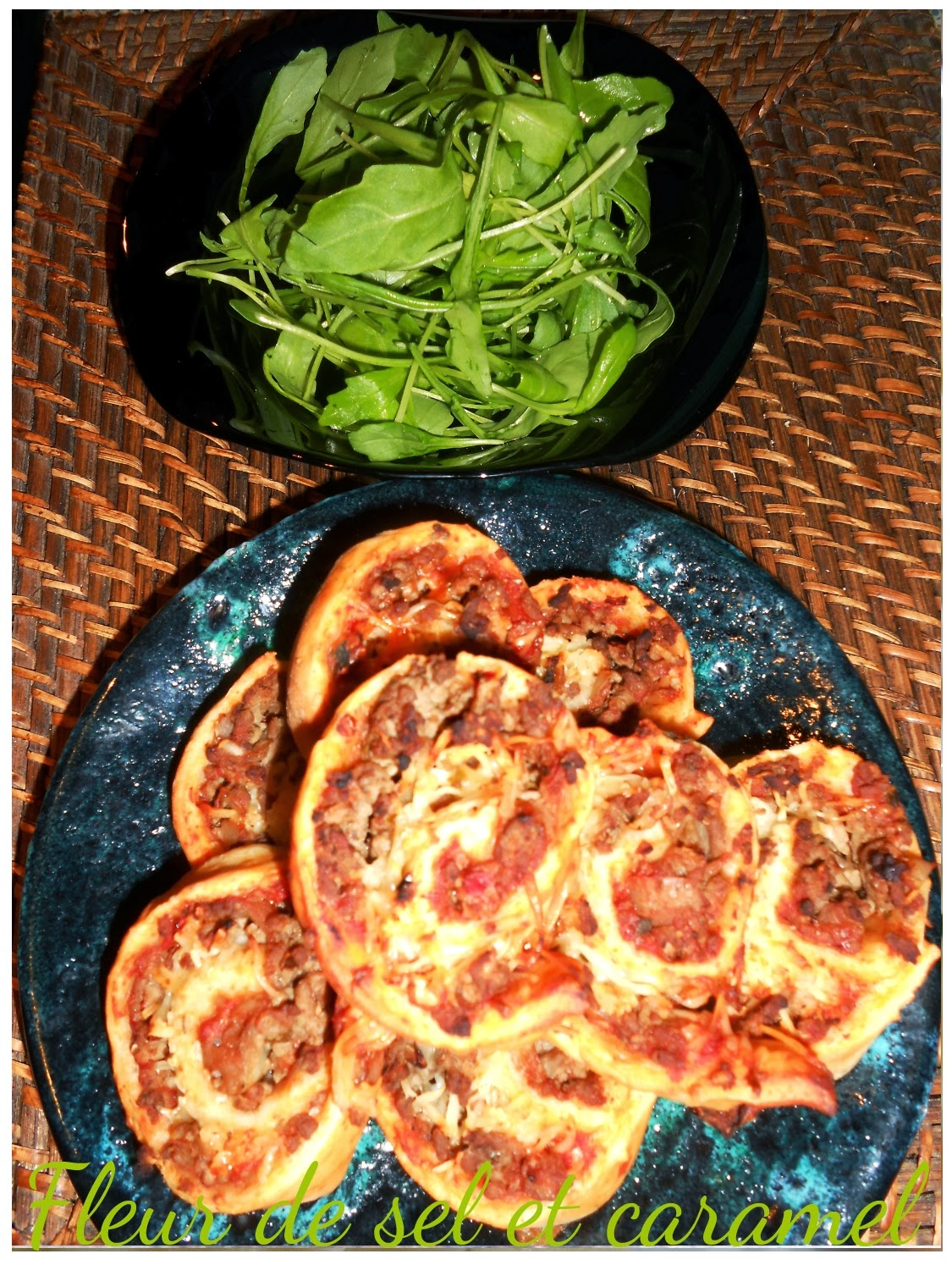 Pizza roulée à la bolognaise