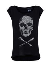 blog, moda, low cost, rebajas, saldos, chollos, moda a buen precio, Mango, fondo de armario, camiseta, negra, calabera