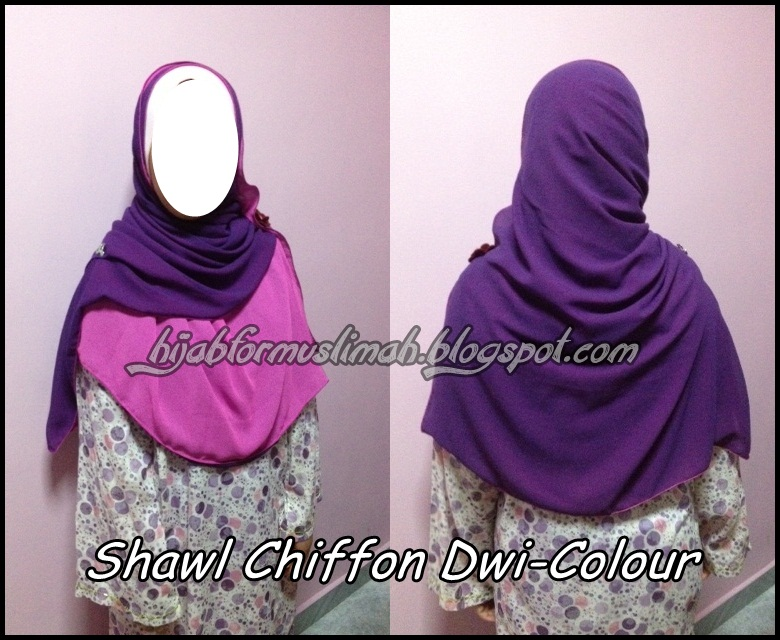 shawl chiffon dwi colour