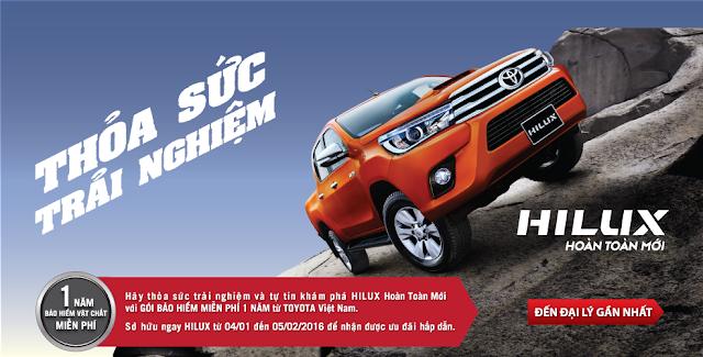 Vui lòng liên hệ để đặt hẹn lái thử xe Toyota Hilux 2016 tại TP Hồ Chí Minh
