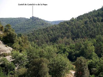 El Castell de la Popa des de molt a prop de Vilacís