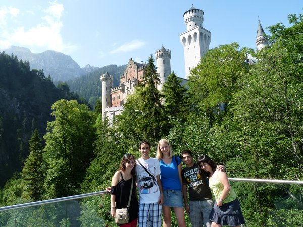 castillo Neuschwanstein, en Füssen, Alemania. Interrail 2009