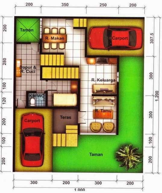 denah rumah minimalis 2