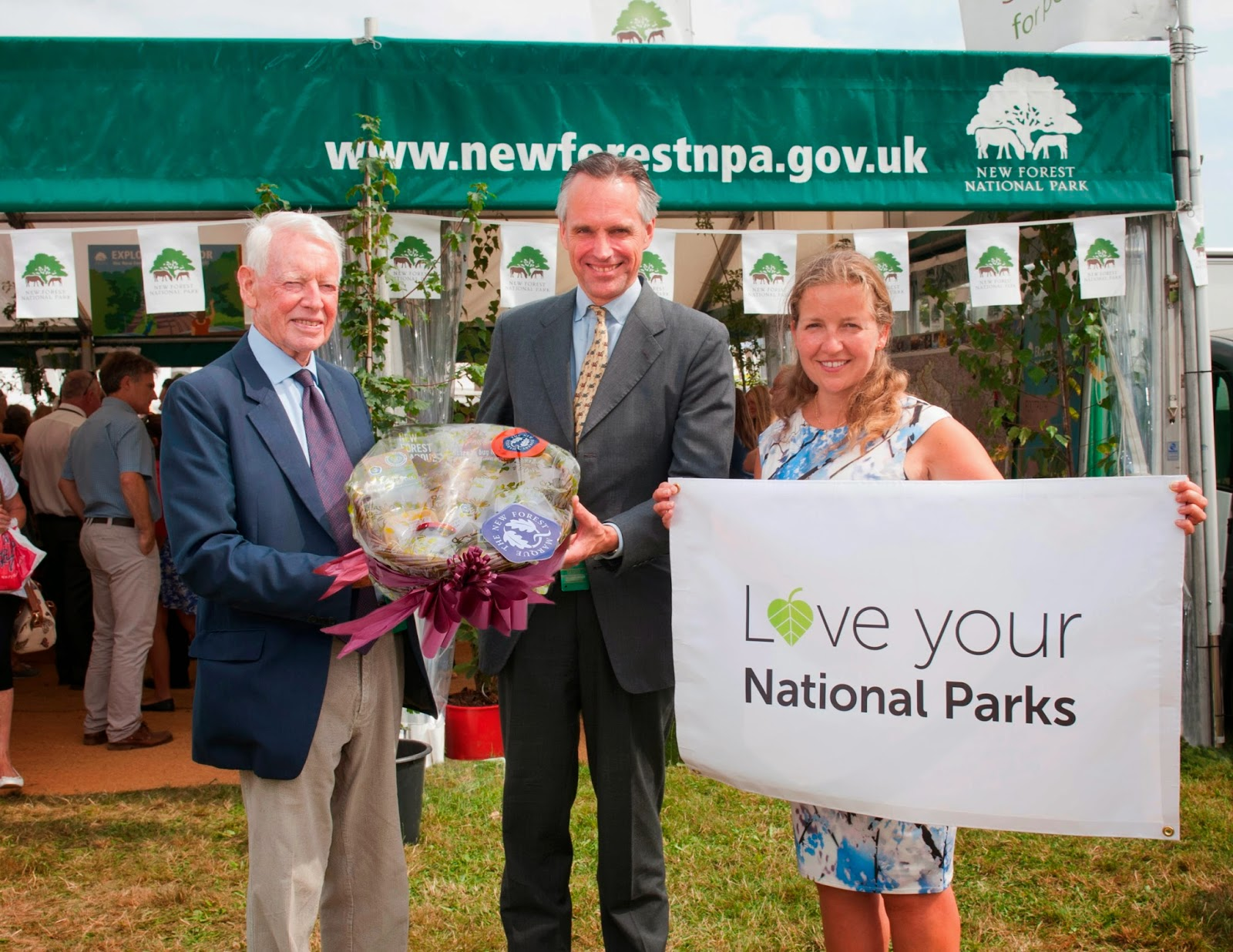 Lord de Mauley with NFNPA Julian Johnson and CExec Alison Barnes