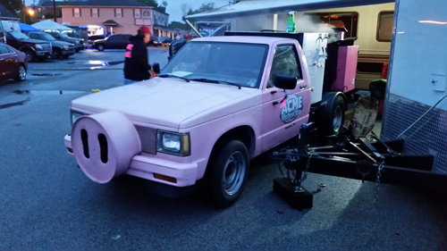 bbq truck, pig truck