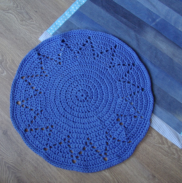 denim rug, denim carpet, diy, farkkumatto, jeans matta