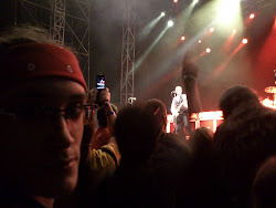 J.R. Morillas (alumno) en el concierto de Status Quo en Cambre (11/08/12)